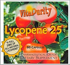 Take advantage of Bargain Bin closeout pricing on VitaPurity Lycopene 25 NOW!